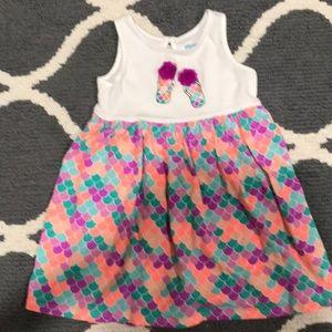 3T sleeveless summer dress purple and orange